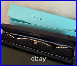 Tiffany & Co 18k Rose Gold Bead Bracelet