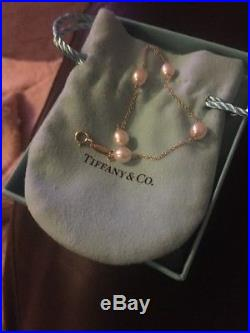 Tiffany & Co Pearl By The Yard 18ct Gold Bracelet