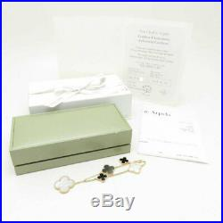 VAN CLEEF & ARPELS 18K Gold Magic Alhambra Mother of Pearl Onyx Bracelet /091946