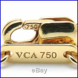 VAN CLEEF &ARPELS 750 Yellow Gold Sweet Alhambra Mother of Pearl Bracelet/099565