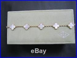 VAN CLEEF & ARPELS Vintage Alhambra 18ct yellow gold & mother of pearl bracelet