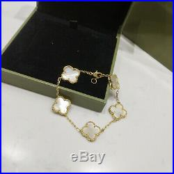 VCA Sweet Alhambra Mother Of Pearl 18k Yellow Gold Bracelet