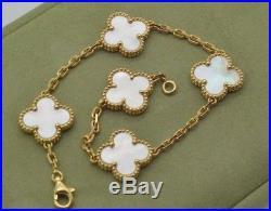 VCA Van Cleef & Arpels Vintage Alhambra Mother Of Pearl 5 Motifs Bracelet