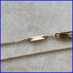 VanCleef & Arpels Sweet Alhambra Papillon 18K Yellow Gold Pearl White Bracelet