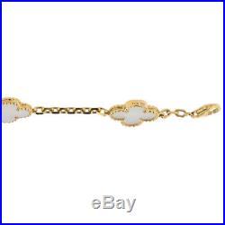 VanCleef & Arpels Vintage Alhambra Mother of Pearl 5 Motif Bracelet, 18k Gold