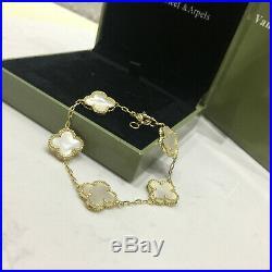 Van Cleef & Arpels 18K Yellow Gold 5 Magic Alhambra Mother Of Pearl Bracelet