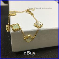 Van Cleef & Arpels Alhambra 18K Yellow Gold Bracelet 5 motifs Mother Of Pearl