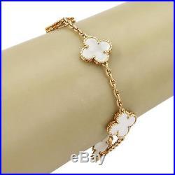 Van Cleef & Arpels Alhambra Mother Of Pearl 18k Yellow Gold Bracelet