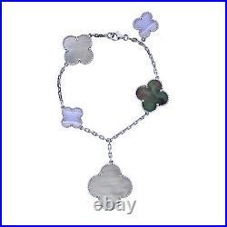 Van Cleef & Arpels Magic Alhambra Chalcedony Mother of Pearl Gold Bracelet