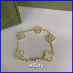 Van Cleef & Arpels Magic Alhambra Mother of Pearl 5 Motifs Yellow Gold Bracelet