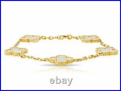Van Cleef & Arpels Magic Alhambra Mother of Pearl Yellow Gold 18k. VCA Box