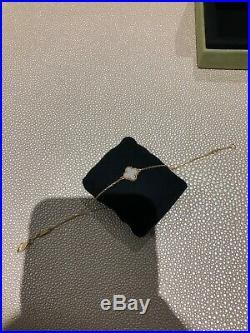 Van Cleef & Arpels Sweet Alhambra 18k Yellow Gold Mother of Pearl Charm Bracelet