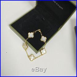 Van Cleef & Arpels Sweet Alhambra 5 gold models white mother of pearl bracelet