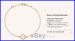 Van Cleef & Arpels VCA 18K Yellow Gold Sweet Alhambra Bracelet