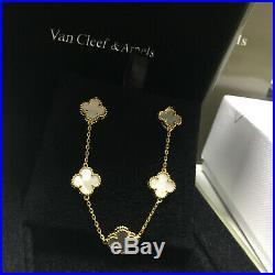 Van Cleef & Arpels Vintage Alhambra 18k Gold Mother Of Pearl Bracelet