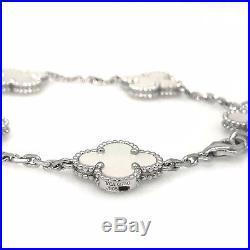Van Cleef & Arpels Vintage Alhambra 5 motif bracelet Mother of Pearl 18K- HM1998
