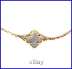 Van Cleef & Arples Clover Bracelet 18k Gold Mother Of Pearl Sweet Alhambra