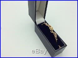 Victorian 18ct gold seed pearl bangle bracelet Art Nouveau design