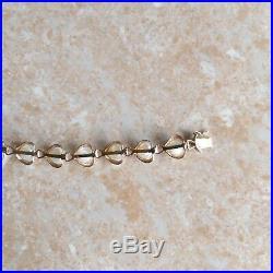 Vintage 14K/585 Yellow Gold Pearl Heart Bracelet