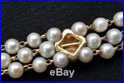 Vintage 14k Gold Pearl Garnet Bracelet-Garnet Pearl Bracelet- Estate Jewelry
