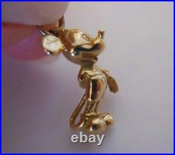 Vintage 14k Solid Gold 3D MICKEY MOUSE Bracelet Charm Pendant 3.5 Gr #21008C