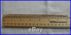 Vintage 14k Yellow Gold DOUBLE LINK STARTER CHARM BRACELET 7 In 6.9 Gr #18021