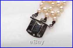 Vintage 1940s $5000 3ct Ruby Sapphire Cultured Pearl 14k White Gold Bracelet