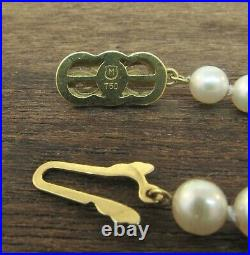 Vintage MIKIMOTO 18K Yellow Gold Pearl Bracelet
