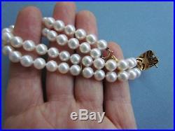 Vintage Mikimoto Pearl 18K Gold Clasp Bracelet Boxed