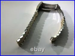 Vintage Omega Bead Of Rice Gold Plated Bracelet 1502#Seamaster#Constellation#70s