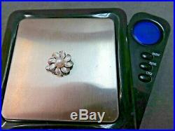 Vtg 14k Solid W. Gold Pearl Clasp for Double Strand Bracelet Necklace / 3.07Gram