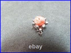 Vtg 14k Solid White Gold Coral Clasp for Single Strand Bracelet Necklace 1.63 G