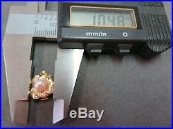 Vtg 14k Solid Y. Gold Pearl Clasp for Single Strand Bracelet Necklace / 1.9 G