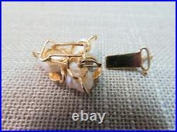 Vtg 14k Y. Gold Pearl Clasp for Single or Multi Strand Bracelet Necklace 2.45 G
